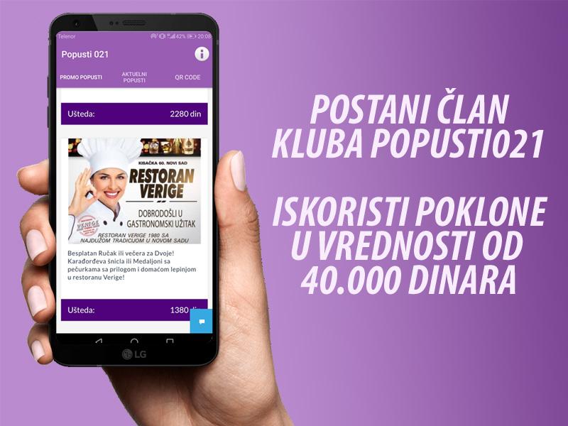 Aktiviraj aplikaciju iskoristi poklon vaučere u vrednosti preko 40 000 dinara CENA ČLANARINE NA GODIScaronNJEM NIVOU U PROMOTIVNOM PERIODU IZNOSI 1000 DINARA. NAKON ISTEKA PROMOTIVNOG PERIODA ČLANARINA ĆE BITI 2500 DINARA. Učlaniti se možete na dva načina: 1) Direktno u udruženju
