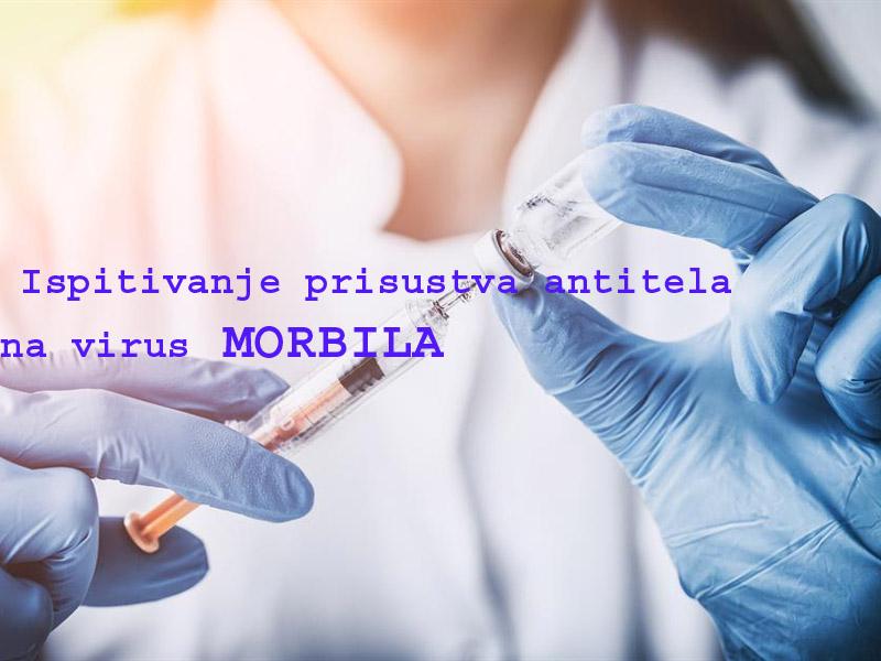 1.000 din umesto 1.300 din. za IgG-test prisustva antitela na virus MORBILA u Poliklinici NS-LABSvetozara Miletića 24, Novi Sad! Proverite da li ste i koliko u RIZIKU da obolite od morbila! Rezultati ispitivanja antitela na virus morbila čekaju se ne duže od 24 sata! Poliklinika NS-LAB Svetozara Miletića 24, Novi Sad! ____________________________________  U saradnji sa Poscarontama Srbije uveli smo joscaron jedan način plaćanja(PostFin gde možete uplatiti VAUČERE svakim radnim danom kao i Subotom i Nedeljom (npr. poscaronte u Univerexportu do 20h) i to BEZ PROVIZIJE i bez popunjavanja uplatnice već samo na scaronalteru poscaronte predate PostFin broj-vaučer Vam stiže na mail nakon uplate automatski za 10 min.)!