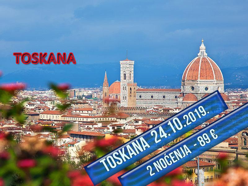 400 din. Vaučer kojim ostvarujete aranžman  agencijeOKTOPOD travel, za putovanje--TOSKANA - TOSKANA - 5 dana sa fakultativnim obilascima: Cinque Terre i Firenca Termini Cena aranžmana 24.10 - 28.10.2019. 89 euro 08.11 - 12.11.2019. 89 euro Toskanaje jedna od 20 regija Italije, nalazi se u njenom srediscaronnjem delu. Glavni grad je Firenca, a ostali značajni gradovi su Piza, Livorno, Prato, Sijena, Lukahellip Toskana je poznata i po zascarontićenim predelima i po velikom broju očuvanih starih gradova, zbog čega se na njenom tlu nalazi nekoliko mesta stavljeno na spisak bascarontine UNESKO-a, a sama regija je jedna od turistički najposećenijih u svetuhellip Firenca za Italijane, ali i ostatak zapadne Evrope ima veliki istorijski, obrazovni i kulturni značaj, pa je poznata i kao Italijanska Atina. Kao grad sa dobro očuvanim starim gradskim jezgrom i nizom vrednih građevina Firenca je i važno turističko odrediscaronte u Italiji. Stari deo Firence je pod zascarontitom UNESCO-a. Cinque Terre, neprilagođeni deo obale italijanske rivijere, nalazi se u oblasti Ligurija. Sastoji se pd pet malih naselja: Monterosso al Mare,Vernazza,Corniglia,Manarola, iRiomaggiore. Ovaj deo obale, pet gradića i brda u okolini su zajedno deo Cinque Terre Nacionalnog parka i ujedno su deoUNESCO Svetske bascarontine. PROGRAM PUTOVANJA: 1. dan (četvrtak) BEOGRAD ndash HRVATSKA - SLOVENIJA Polazak iz Beograda sa glavne autobuske stanice BAS, centar Beograda, ulaz iz Karađorđeve ulice u 17:00 h i iz Novog Sada u 18:30 h sa parkinga ispred Lokomotive. Lagana noćna vožnja preko Hrvatske i Slovenije uz usputna zadržavanja radi odmora i graničnih formalnostihellip  2. dan (petak) BOLONJA ndash MONTEKATINI (ili neko drugo mesto u okolini Firence-Barberino di Muglellohellip) Prepodnevni dolazak uBolonju. Po dolasku obilazak grada: spomenik Neptunu, bazilika San Petronio, univerzitet, Due Tori, palata Banki, palata Notai, palata Akursio, trg Mađore... Slobodno vreme nakon obilaska. Nastavak putovanja zaMo