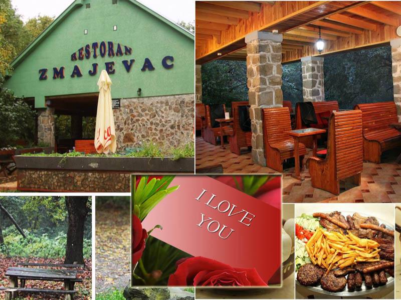 650 din. po osobi umesto redovne cene 1400 rsd. za noćenje  u Motelu ZMAJEVAC--Fruscaronka gora--  Restoran Zmajevac nalazi se u okviru Nacionalnog parka Fruscaronka gora, na putu od Iriscaronkog venca ka Crvenom čotu. Zmajevac je poznat po tome scaronto se sa njega pruža prelep pogled na Banju Vrdnik i veliki deo Srema. Pored nase bogate kuhinje, pruzamo vam i mogucnost dnevnog boravka i prenocista u nasim sobama. Subotom uzivajte u zivoj svirci do ranih jutarnjih casova! Motel restoran Zmajevac vam nudi prijatan ugođaj i bogatu tradicionalnu kuhinju. Pored dobre kuhinje tu su i sobe za, kako dnevni predah, tako i noćni odmor. Motel je odvojen od glavnog puta, pa je idealan za odmor u prirodi. Organizujemo sve vrste proslava (svadbe, rođendane, veridbe, poslovne ručkovehellip) u predivnom ambijentu Fruscaronke gore. Pored motela je akustični amfiteatar sa oko 800 mesta, pogodan za razne priredbe i scaronkole u prirodi, kao i sankaliscaronte za decu. Motel restoran bdquoZMAJEVACldquo nalazi se na Fruscaronkoj gori, potez Zmajevac, odmah iznad Banje Vrdnik, na raskrsnici puteva Vrdnik-Rakovac, Iriscaronki Venac-Brankovac. Od Novog Sada je udaljen oko 20 kilometara.SVAKE SUBOTE GOSTE ZABAVLJAJU TAMBURAScaronI. http://motelzmajevac.com ___________________________________  U saradnji sa Poscarontama Srbije uveli smo joscaron jedan način plaćanja (PostFin gde možete uplatiti VAUČERE svakim radnim danom kao i Subotom i Nedeljom (npr. poscaronte u Univerexportu do 20h ) i to BEZ PROVIZIJE i bez popunjavanja uplatnice već samo scaronalterskom službeniku u poscaronti predate PostFin broj i vaučer Vam stiže na mail nakon uplate automatski za 10 min.)!