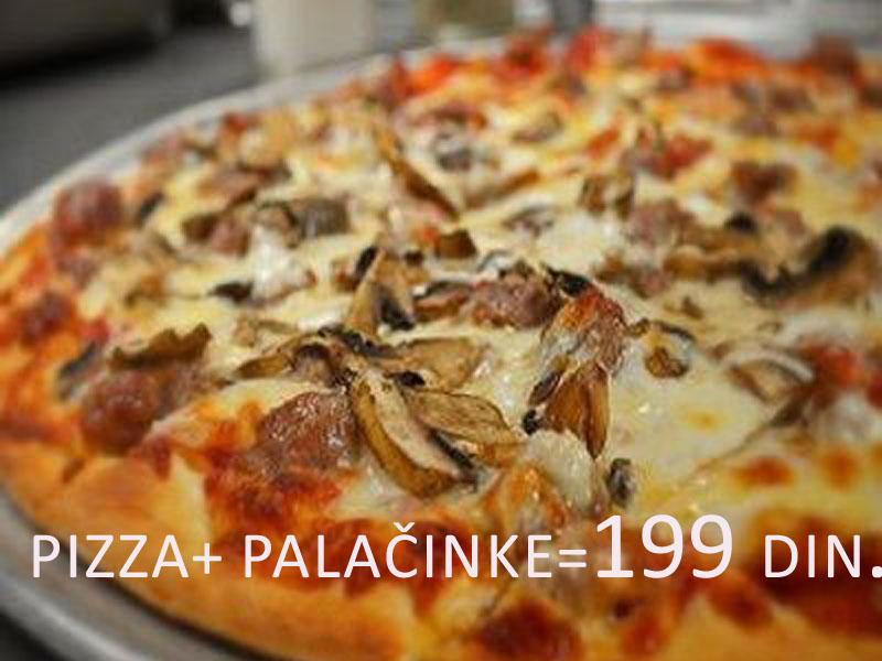 199 din. umesto redovne cene od 450 din. za pizza CAPRICCIOSA(23cm)+ porcija slatkih palačinki u prijatnom ambijentu picerije Porto, Hadži Ruvimova 42 Novi Sad!  Kada ne znate scaronta Vam se jede, pizza Capricciosa je uvek pravi izbor! Pripremili smo Vam dupli užitak pa smo ponudu malo i zasladili palačinkama od eurokrema. Povedite Vama dragu osobu na doručak, ručak ili večeru i ulepscaronajte sebi dan u prijatnom ambijentu picerije Porto. Ponuda podrazumeva pizza Capricciosa i porcija slatkih palačinki Sastojci pice(23cm): pelat, sir, scaronunka i scaronampinjoni Slatke palačinke : rafaelo, JO jo, eurokrem, plazma, toping, džem, scaronlag Dobro doscaronli i PRIJATNO! ____________________________________  U saradnji sa Poscarontama Srbije uveli smo joscaron jedan način plaćanja(PostFin gde možete uplatiti VAUČERE svakim radnim danom kao i Subotom i Nedeljom (npr. poscaronte u Univerexportu do 20h) i to BEZ PROVIZIJE i bez popunjavanja uplatnice već samo na scaronalteru poscaronte predate PostFin broj-vaučer Vam stiže na mail nakon uplate automatski za 10 min.)!